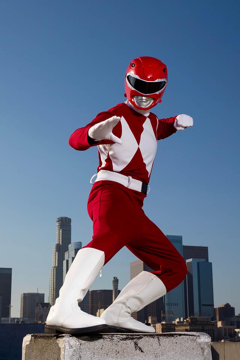 Superhero power ranger party character for kids in columbus